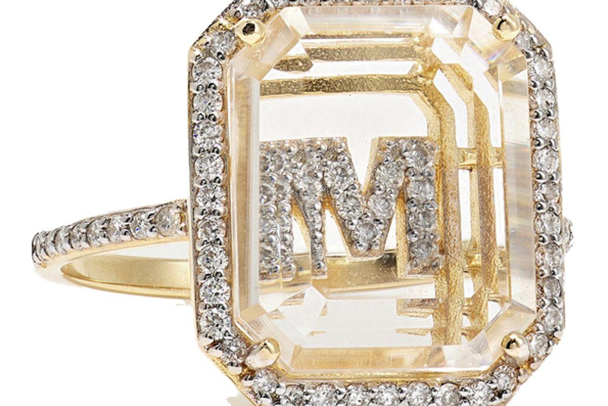 mateo 14 karat gold crystal and diamond ring