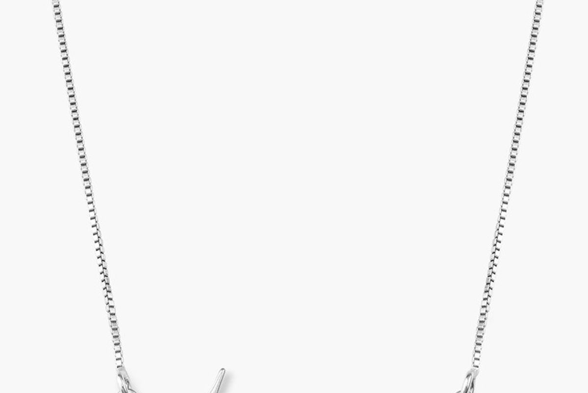 oak and luna mon petit name necklace 14k white gold