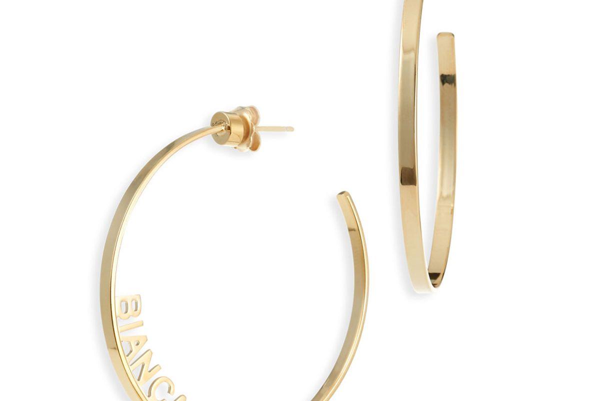 jennifer zeuner ciara personalized hoop earrings
