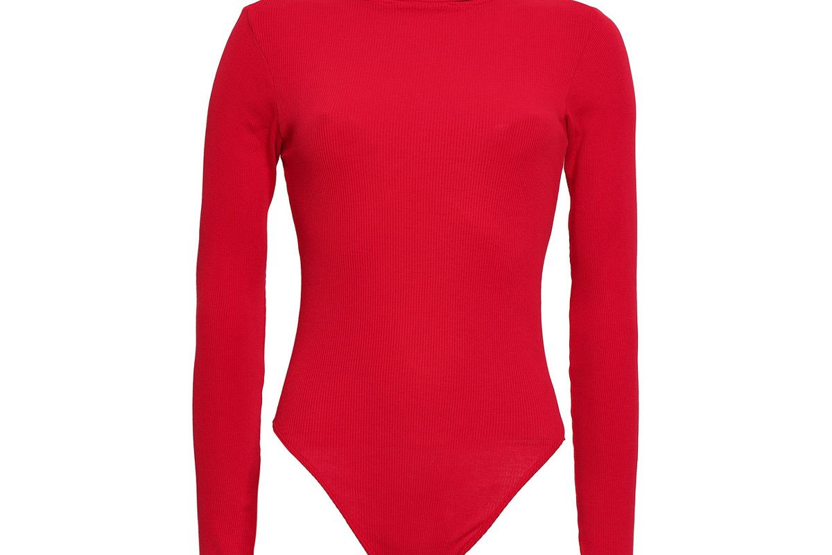 re done ribbed cotton jersey bodysuit