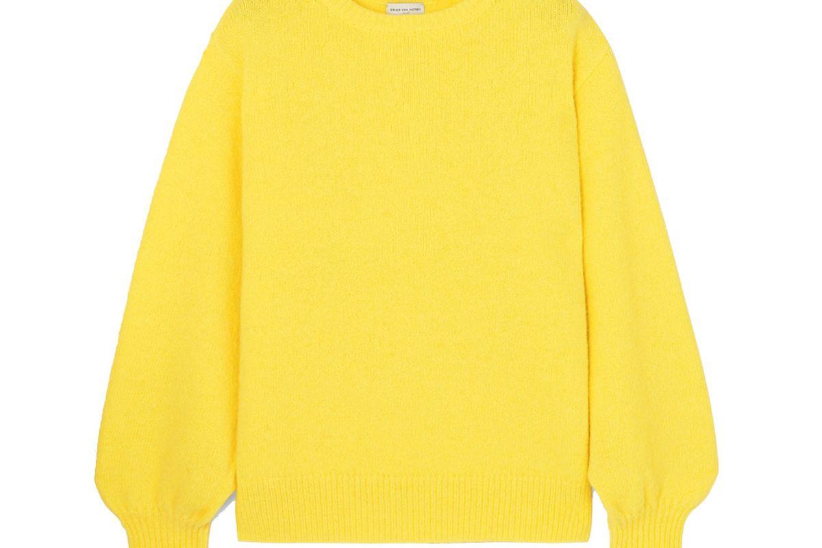 dries van noten tasche knitted sweater