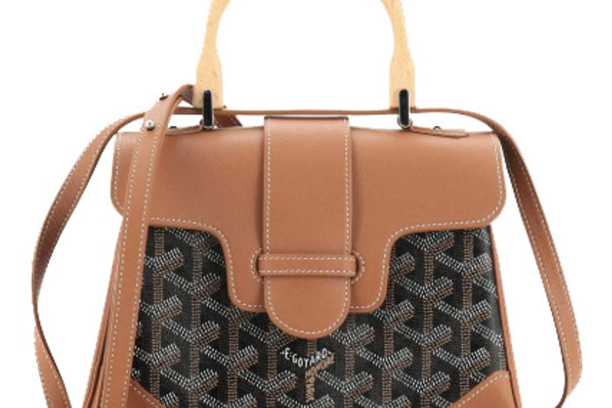goyard saigon top handle mini bag