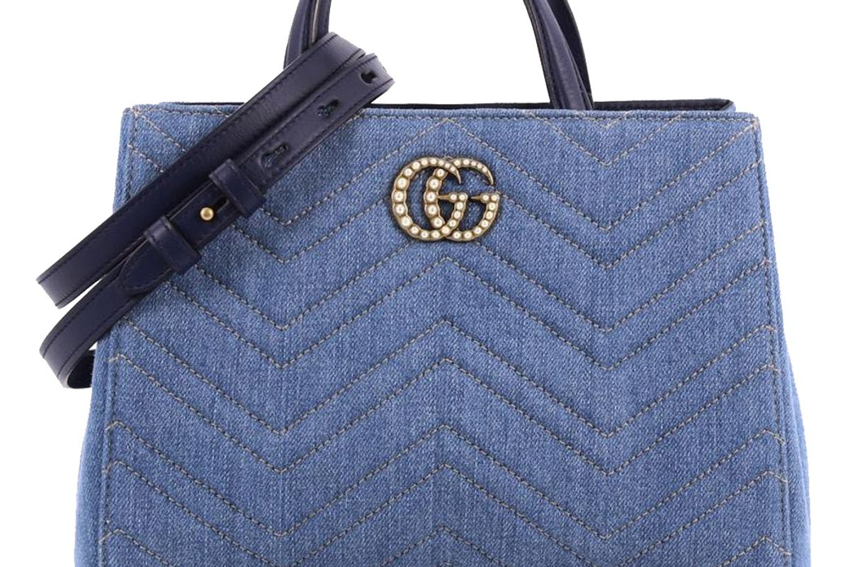 gucci gg marmont tote matelasse pearly bag