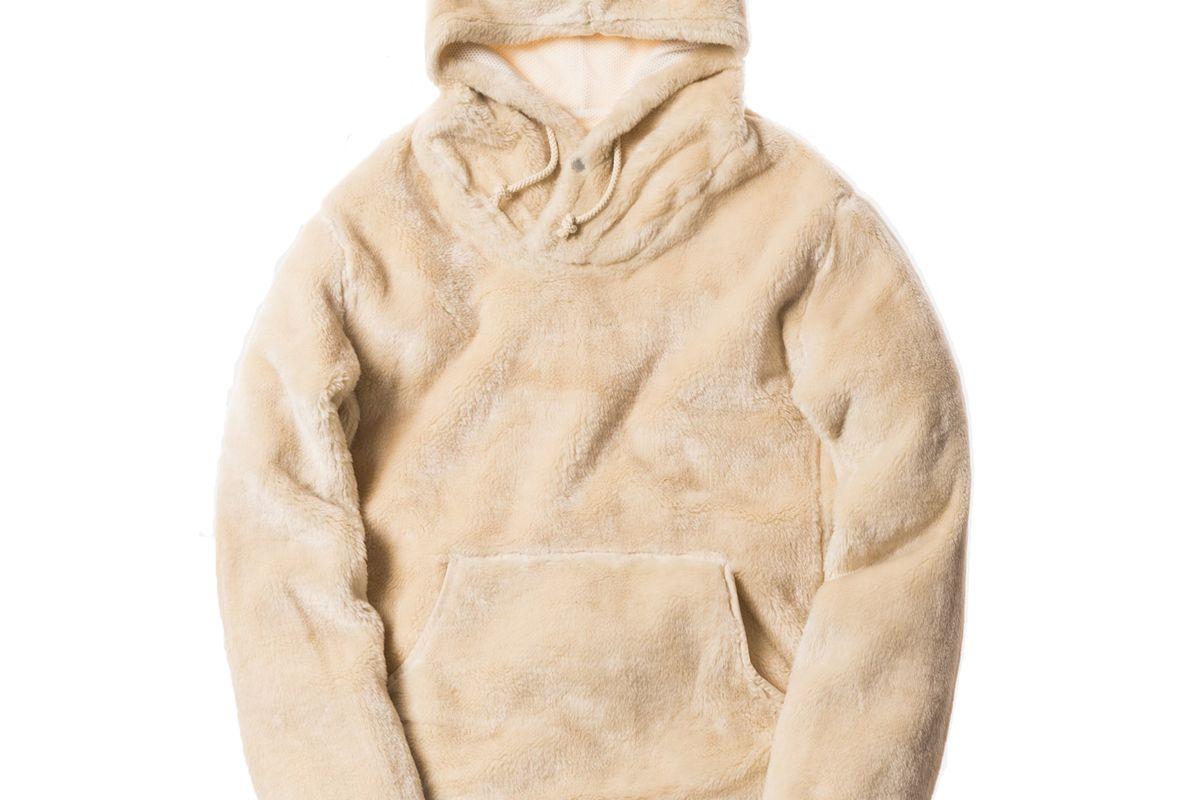 kith x nonnative sherpa hoodie