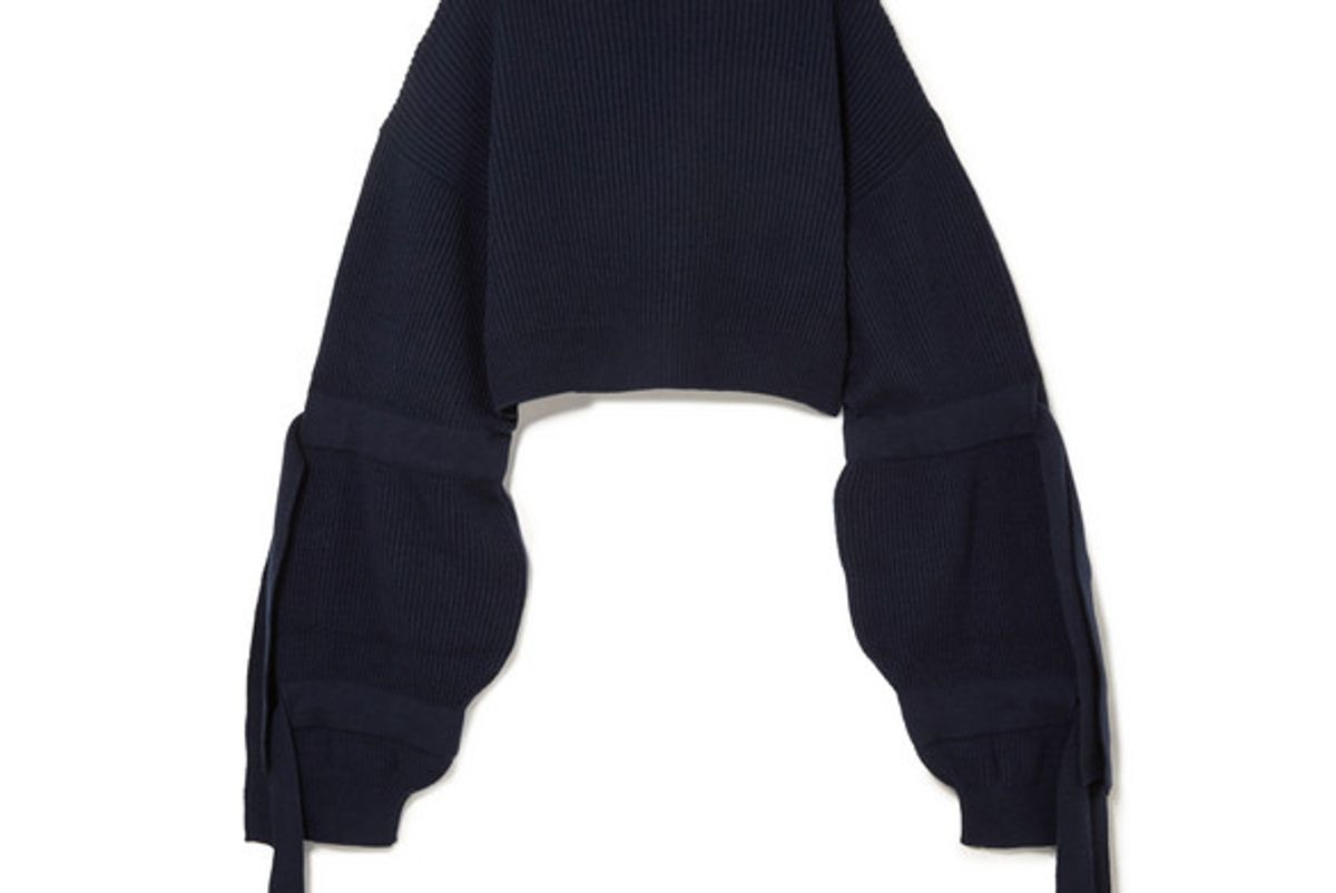 stella mccartney ribbed cashmere blend hooded sweater