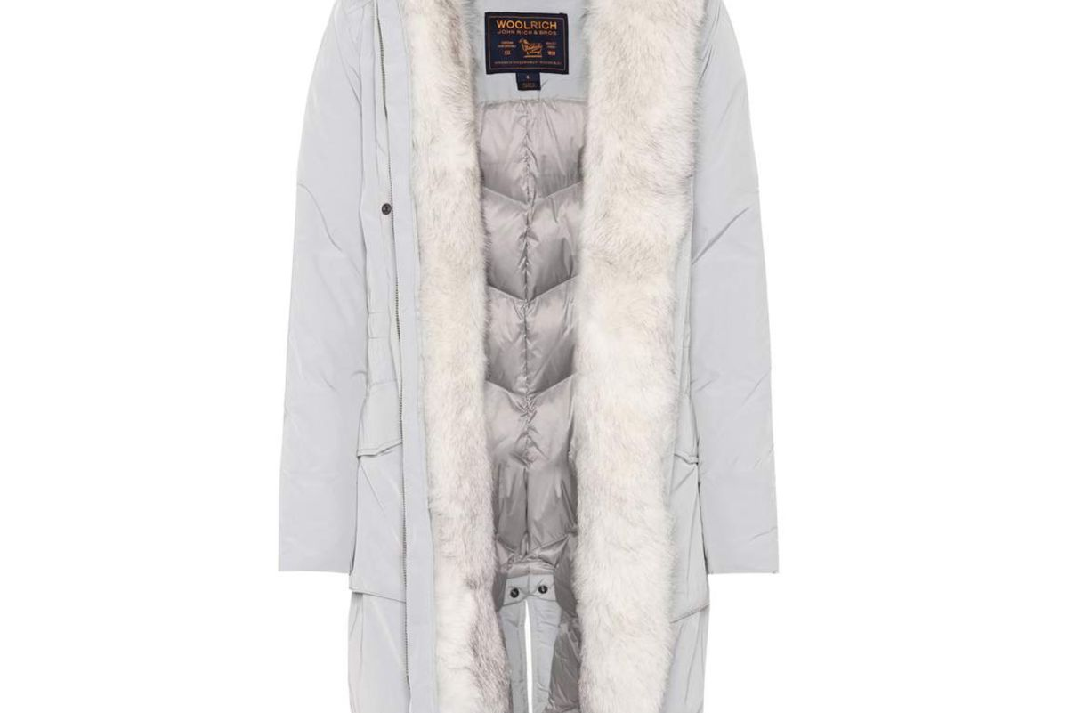 woolrich military fur trimmed parka