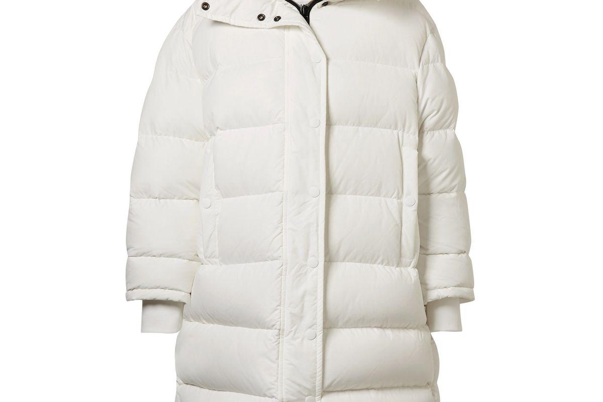 balenciaga oversized shell down coat