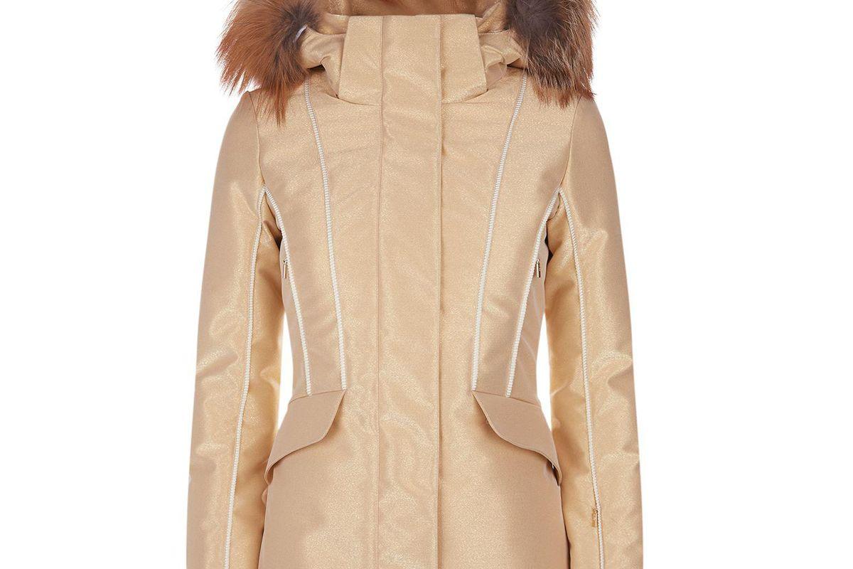 fendi fur trimmed ski jacket