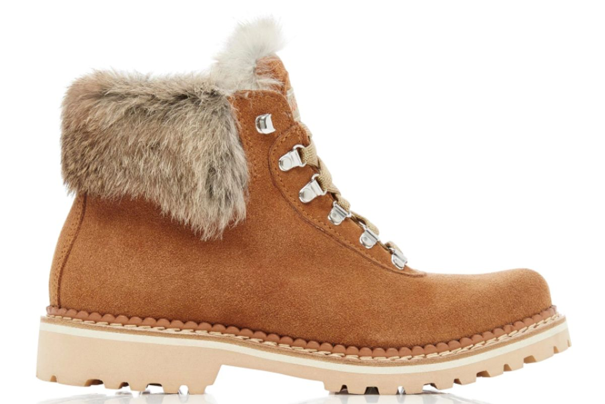montelliana fur trimmed suede boots