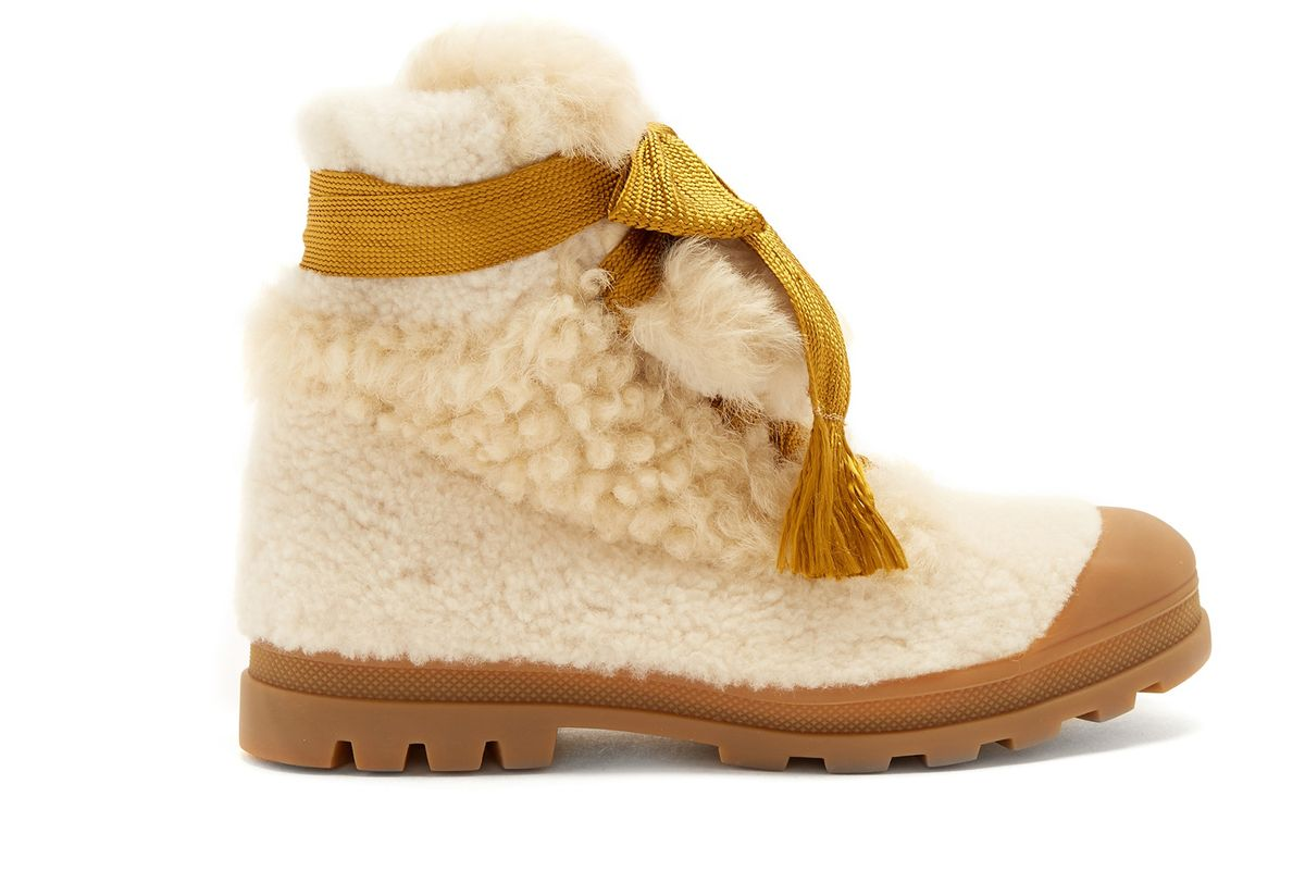 chloe parker shearling ankle boots