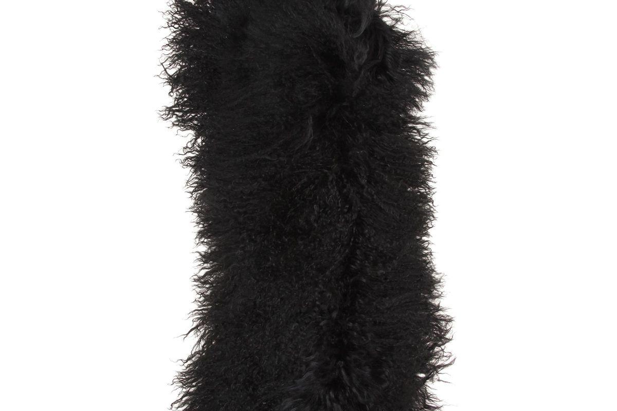 haider ackermann leather fur gloves