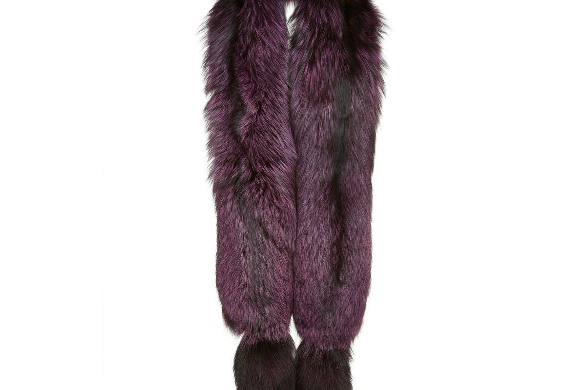 lysa lash fur silver fox boa