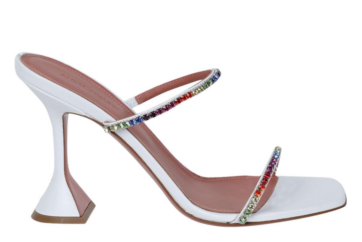 amina muaddi gilda embellished slipper