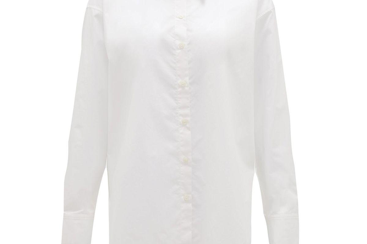 acne studios stella cotton poplin shirt