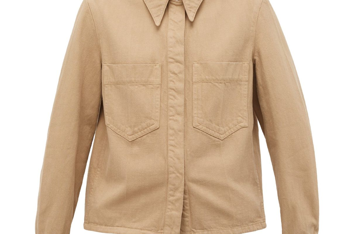 lemarie garment dyed cotton twill overshirt