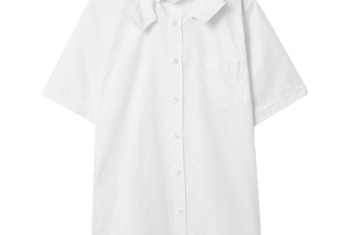 situationist cotton poplin shirt