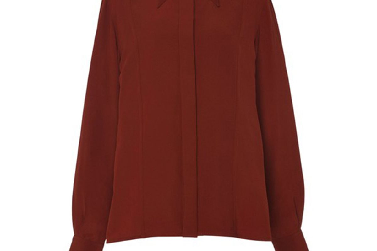 victoria beckham silk chiffon shirt