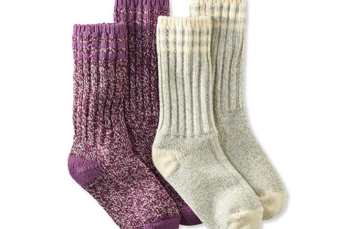 "Merino Wool Ragg Sock, 10"" Stripe 2-Pack"