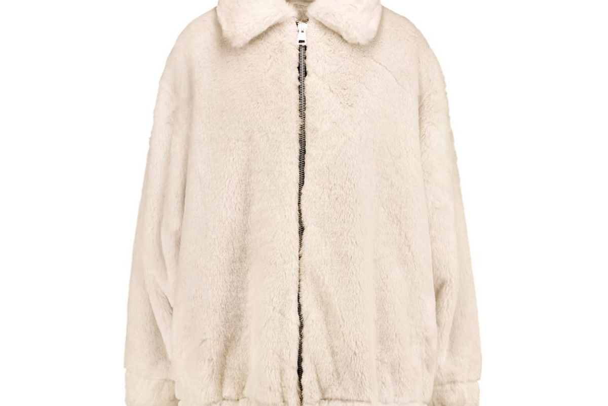 ainea oversized faux fur coat