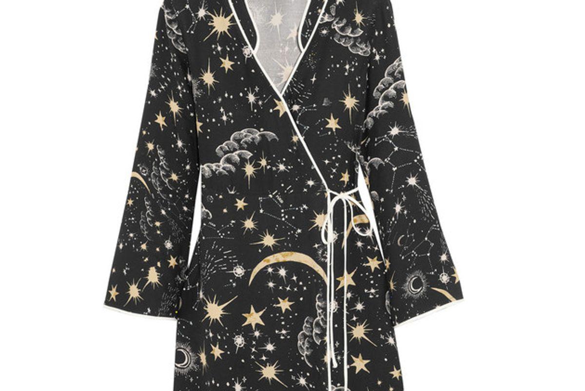 rixo london iris printed crepe wrap dress
