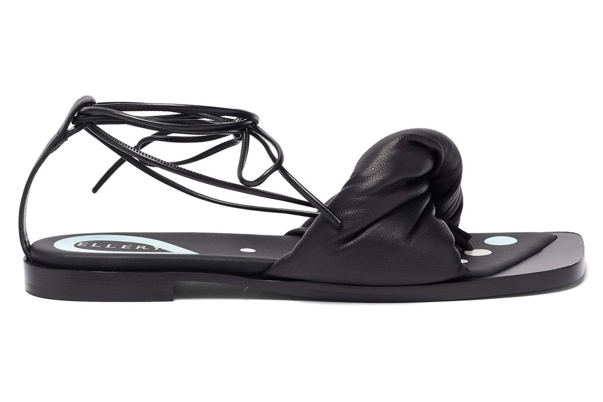 ellery themister wrap leather sandals
