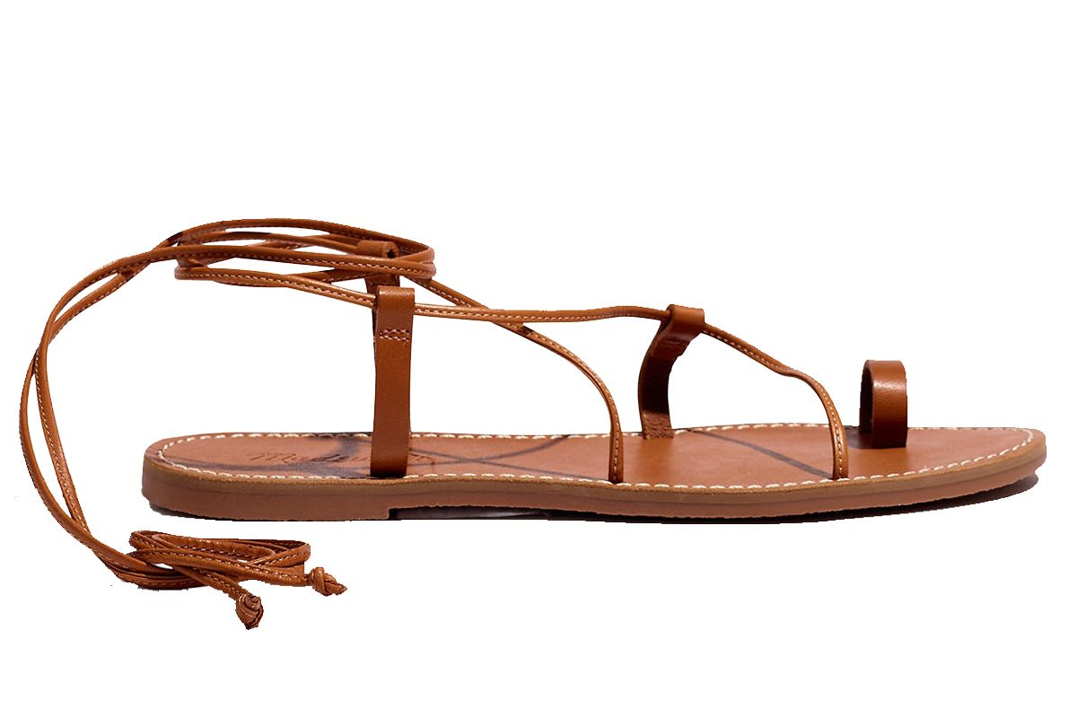 madewell the boardwalk lace up toe hold sandal