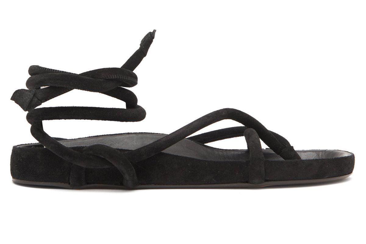 isabel marant lastro wraparound suede sandals