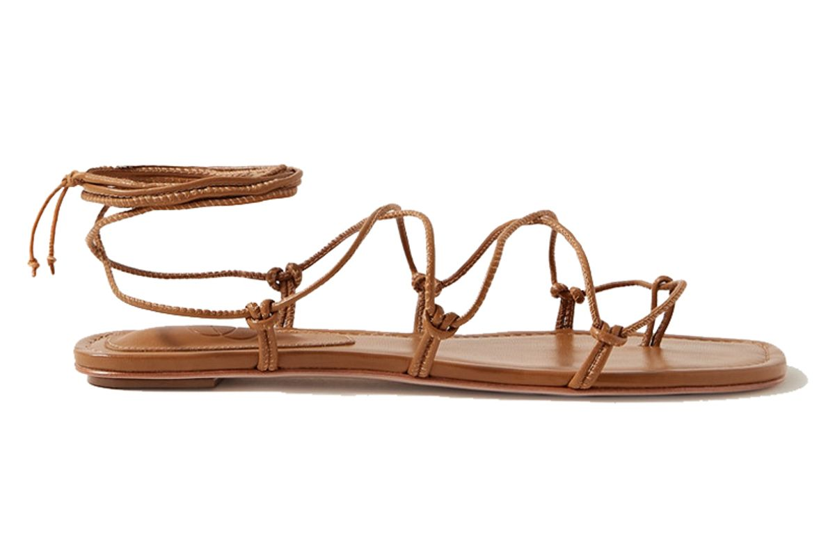 porte and paire knotted leather sandals