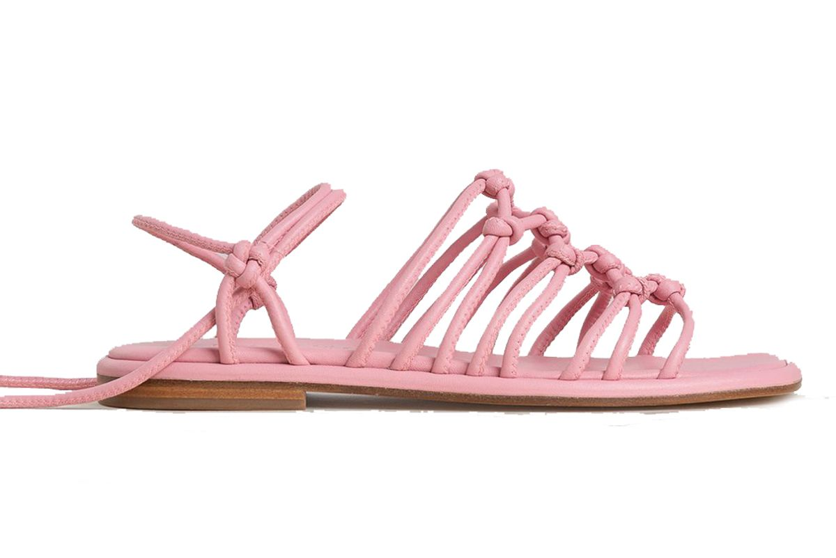 hereu nuada knotted flat sandal
