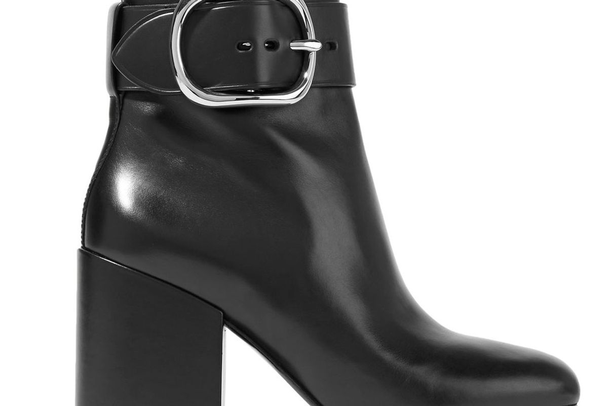 Kenze Buckled Leather Ankle Boots