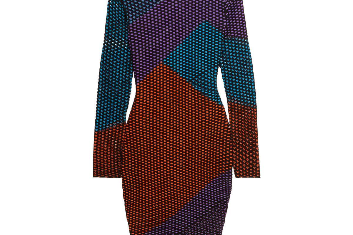 Intarsia-Knit Turtleneck Dress