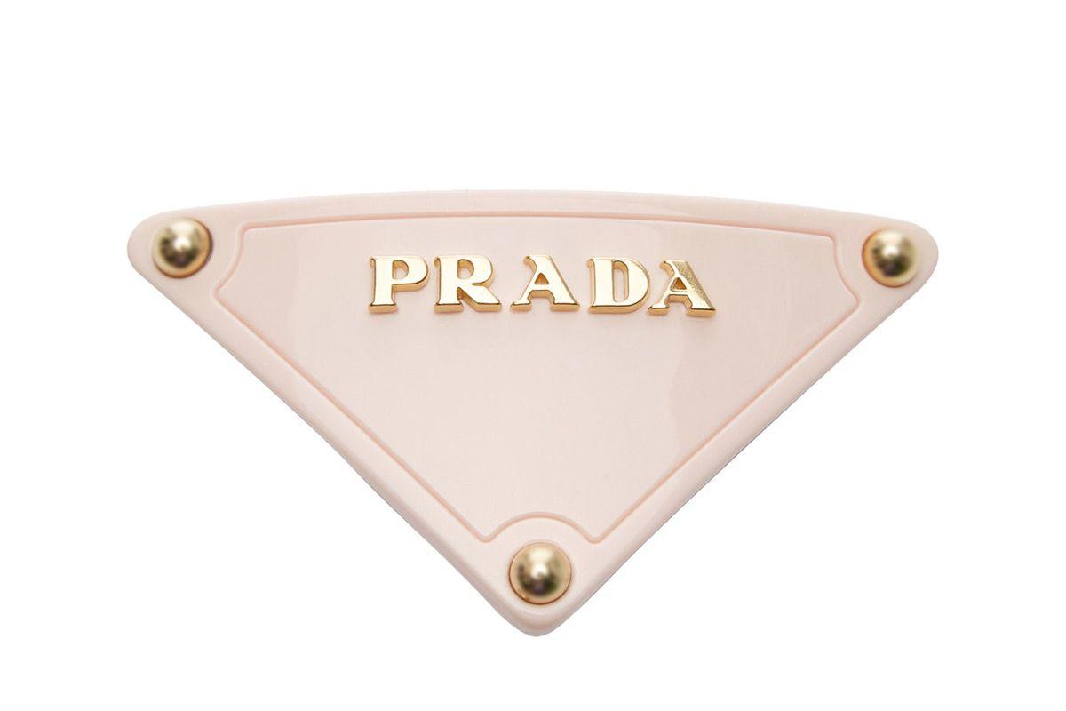 prada plex triangle barrette