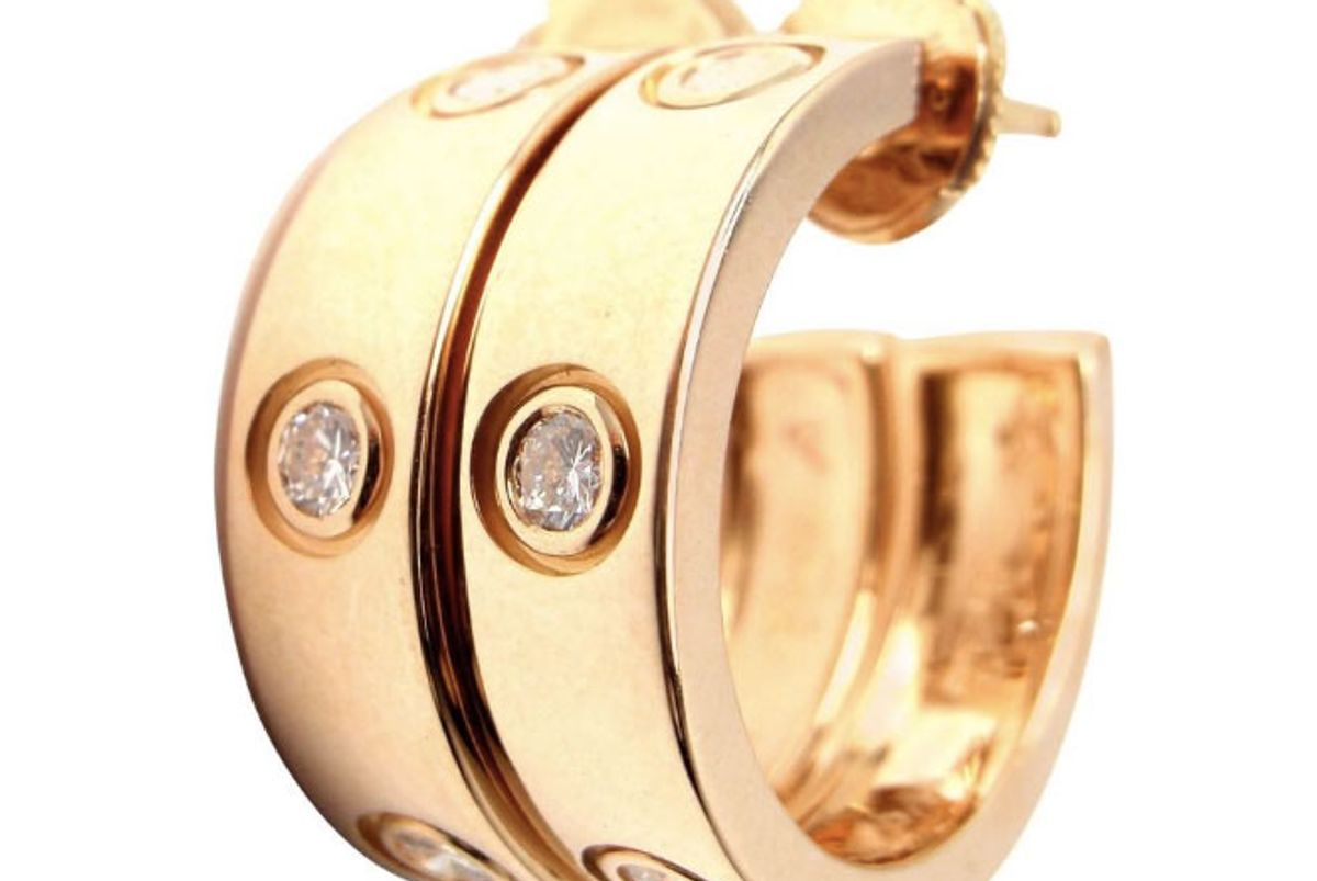 Love Diamond Gold 150th Anniversary Limited Edition Hoop Earrings