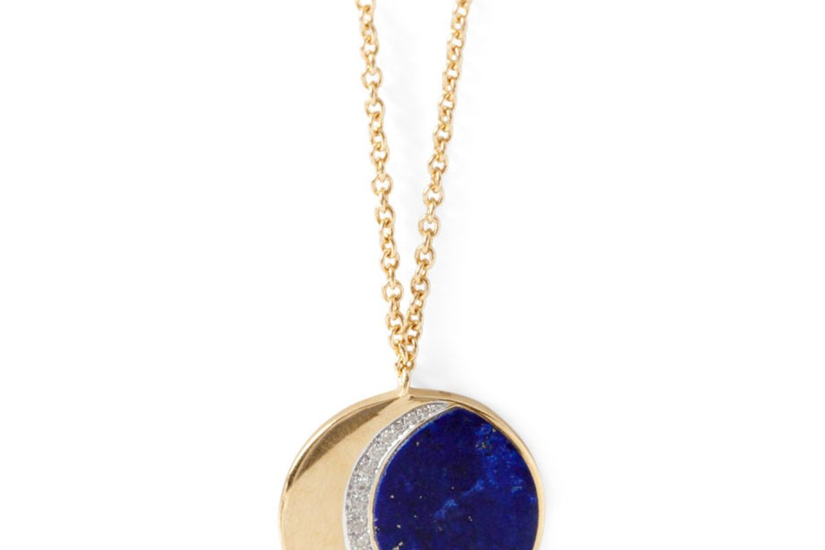 Lapis Moon Phase Necklace