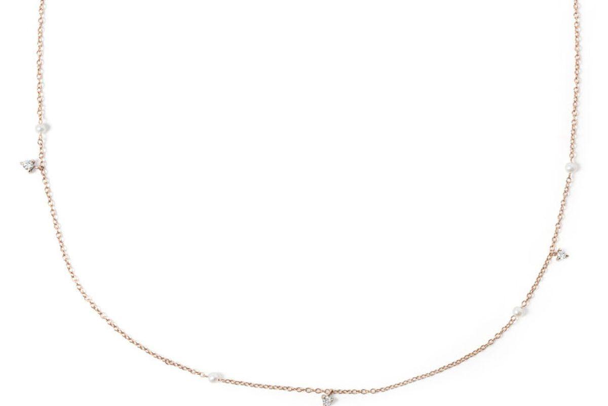 Dewdrop Collar, Rose Gold