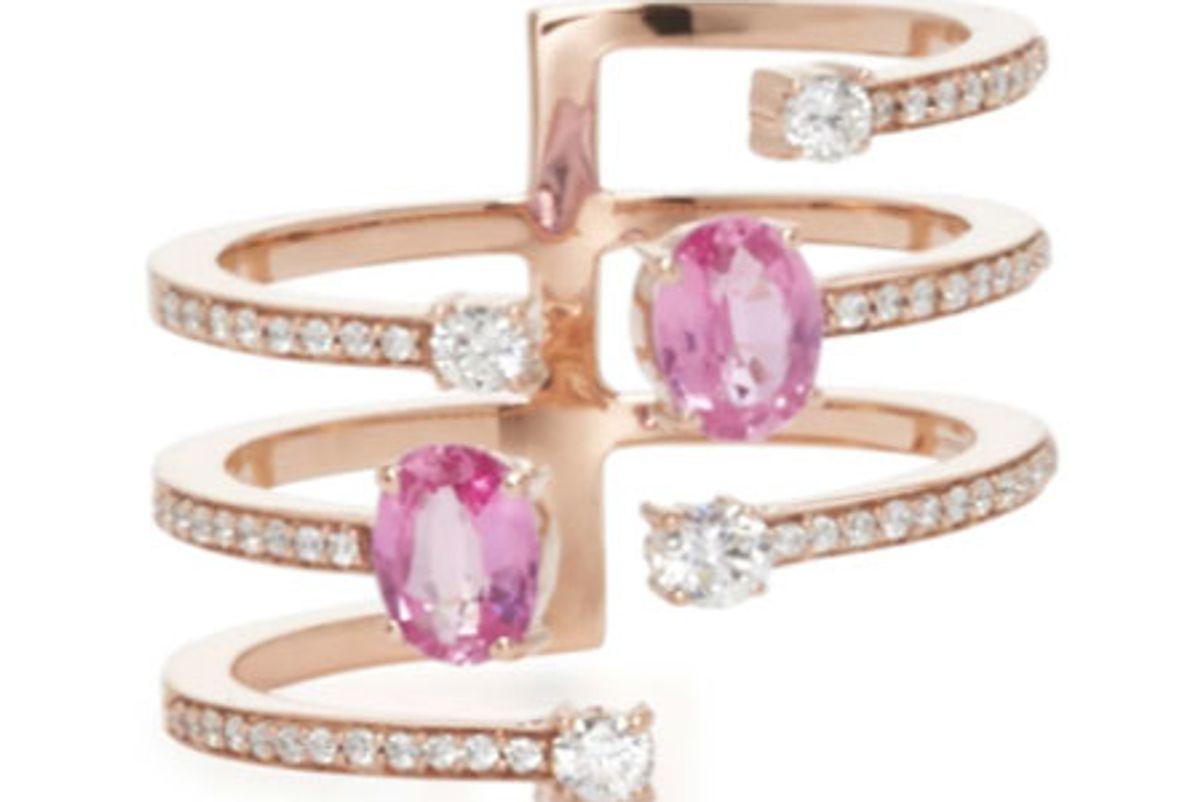 18K Rose Gold Spectrum Ring