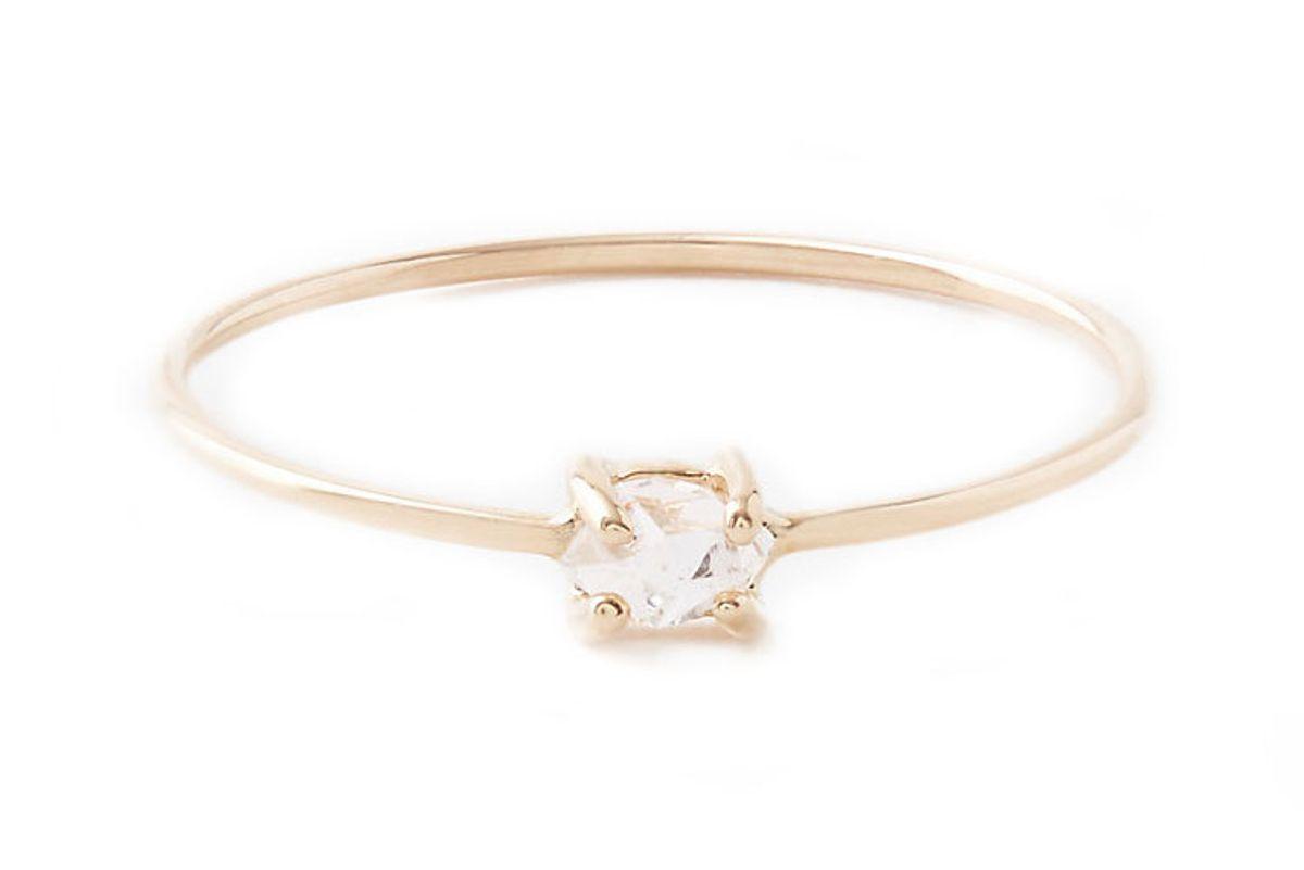 Herkimer Diamond Pinky Ring