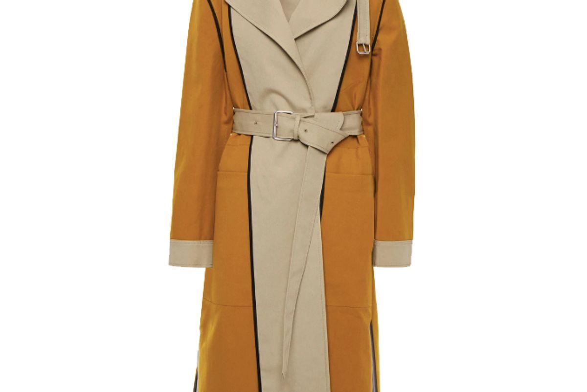 proenza schouler reversible two tone cotton canvas trench coat