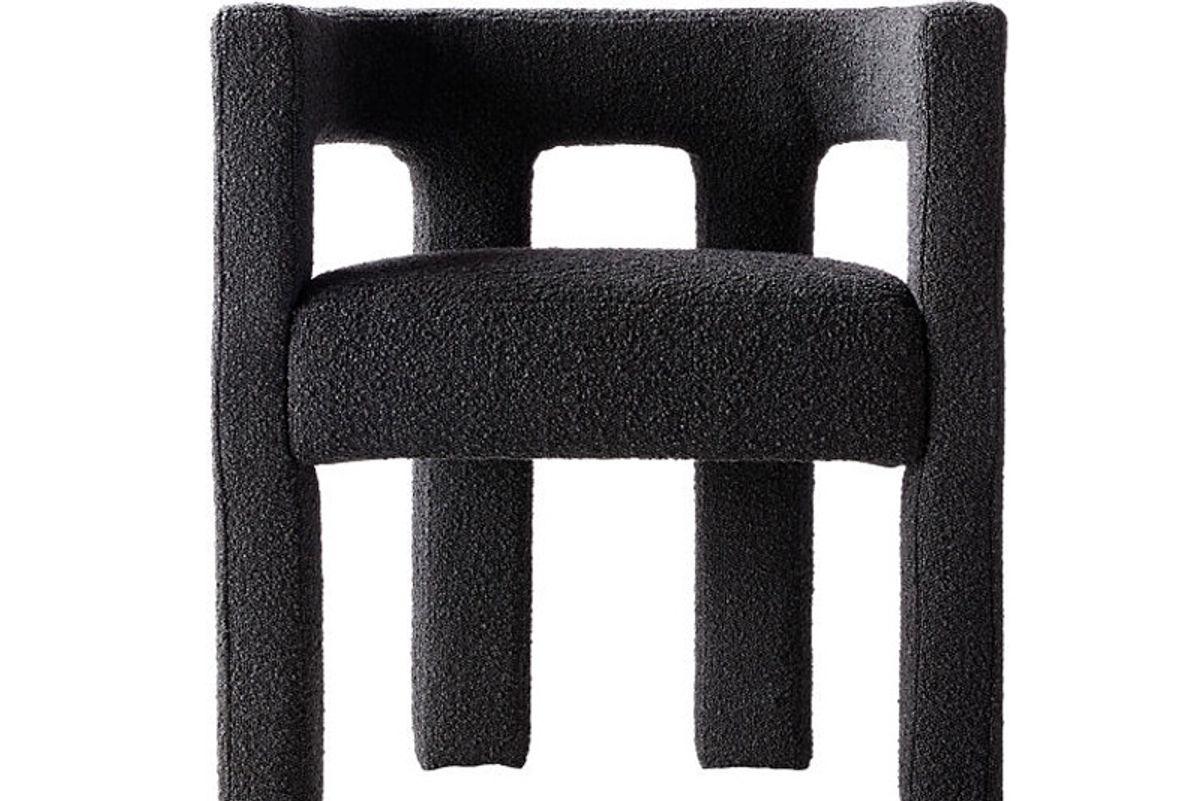 cb2 stature chair black