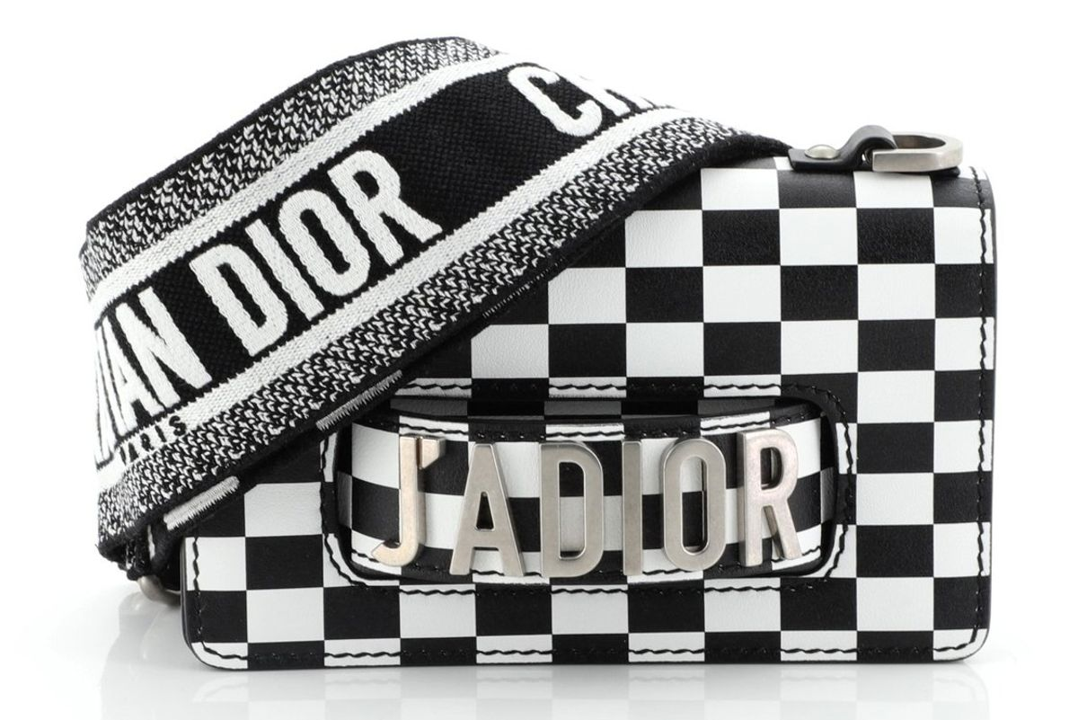 dior j'adior printed leather mini flap bag