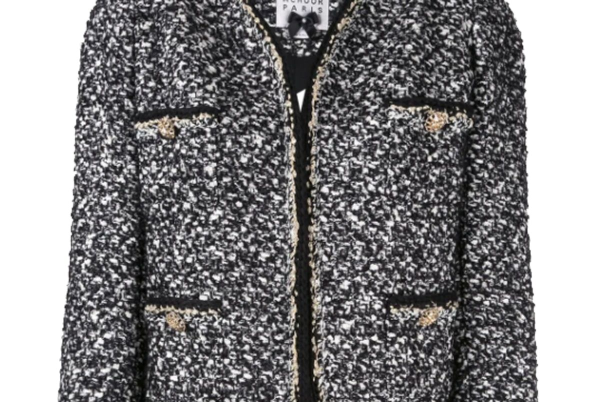 edward achour paris boxy cropped jacket