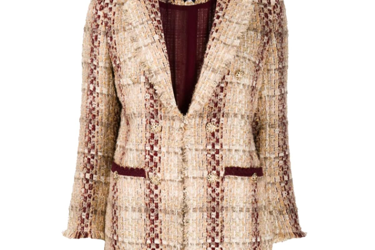 edward achour paris boucle embroidered tweed blazer