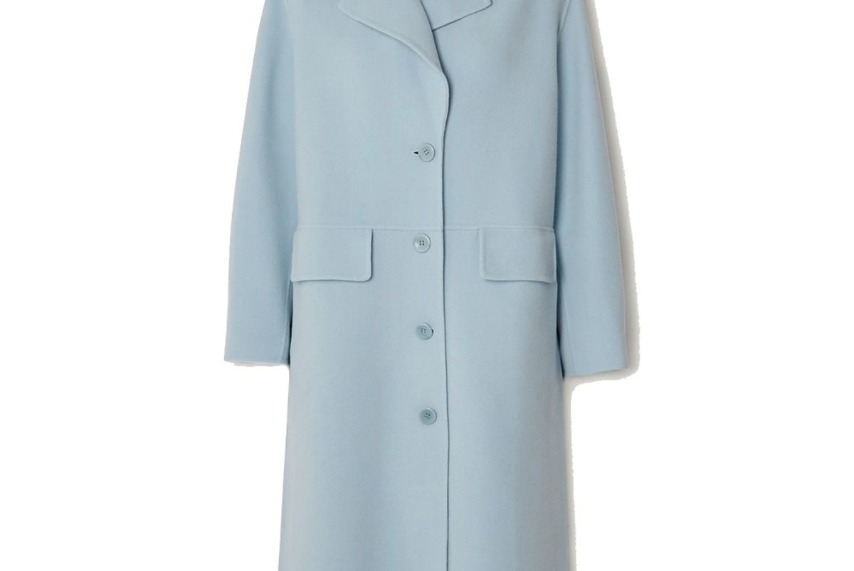 proenza schouler white label wool blend coat