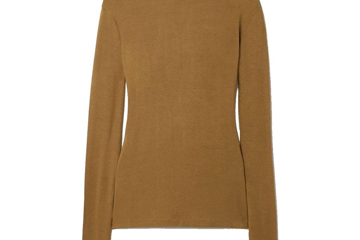 toteme arenzano stretch knit turtleneck sweater