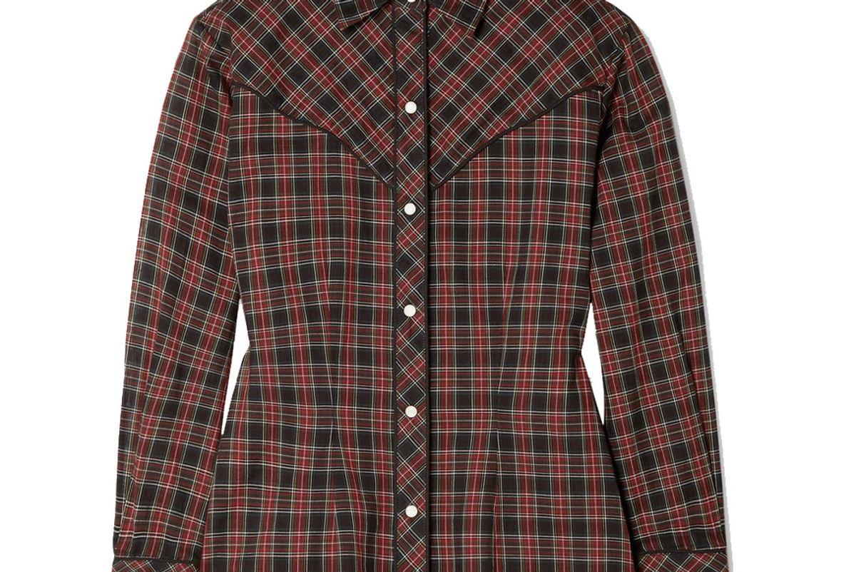nili lotan ada checked cotton voile shirt