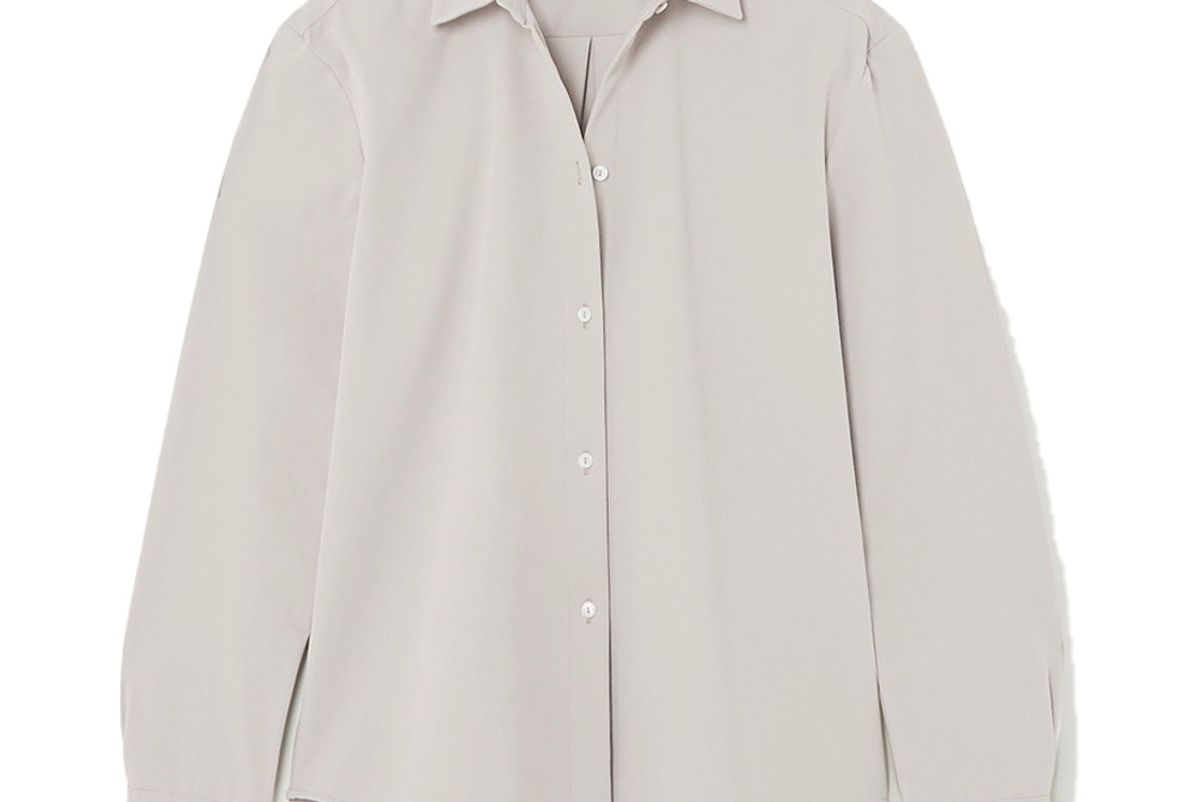 la collection emelia oversized cotton blend twill shirt
