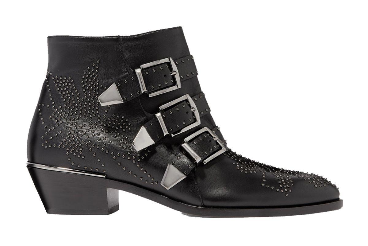 chloe susanna studded leather ankle boots