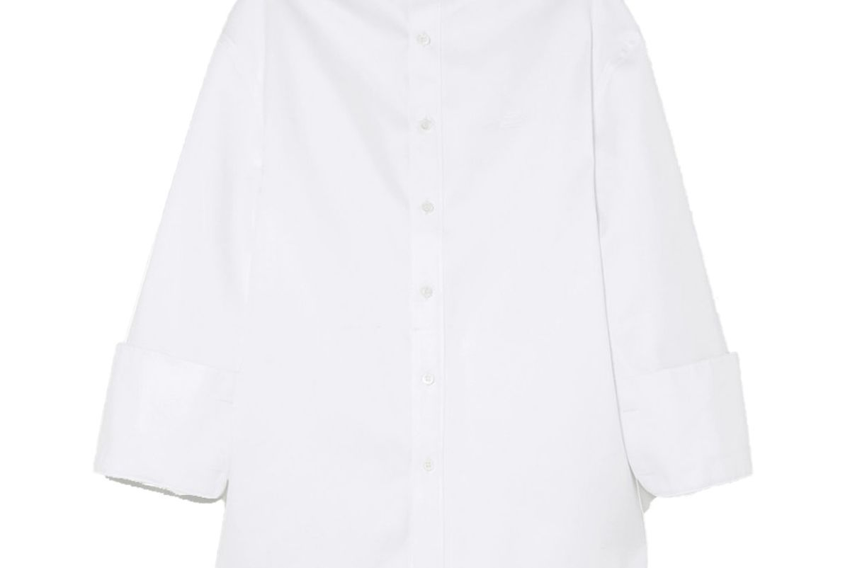 balenciaga oversized cotton twill shirt