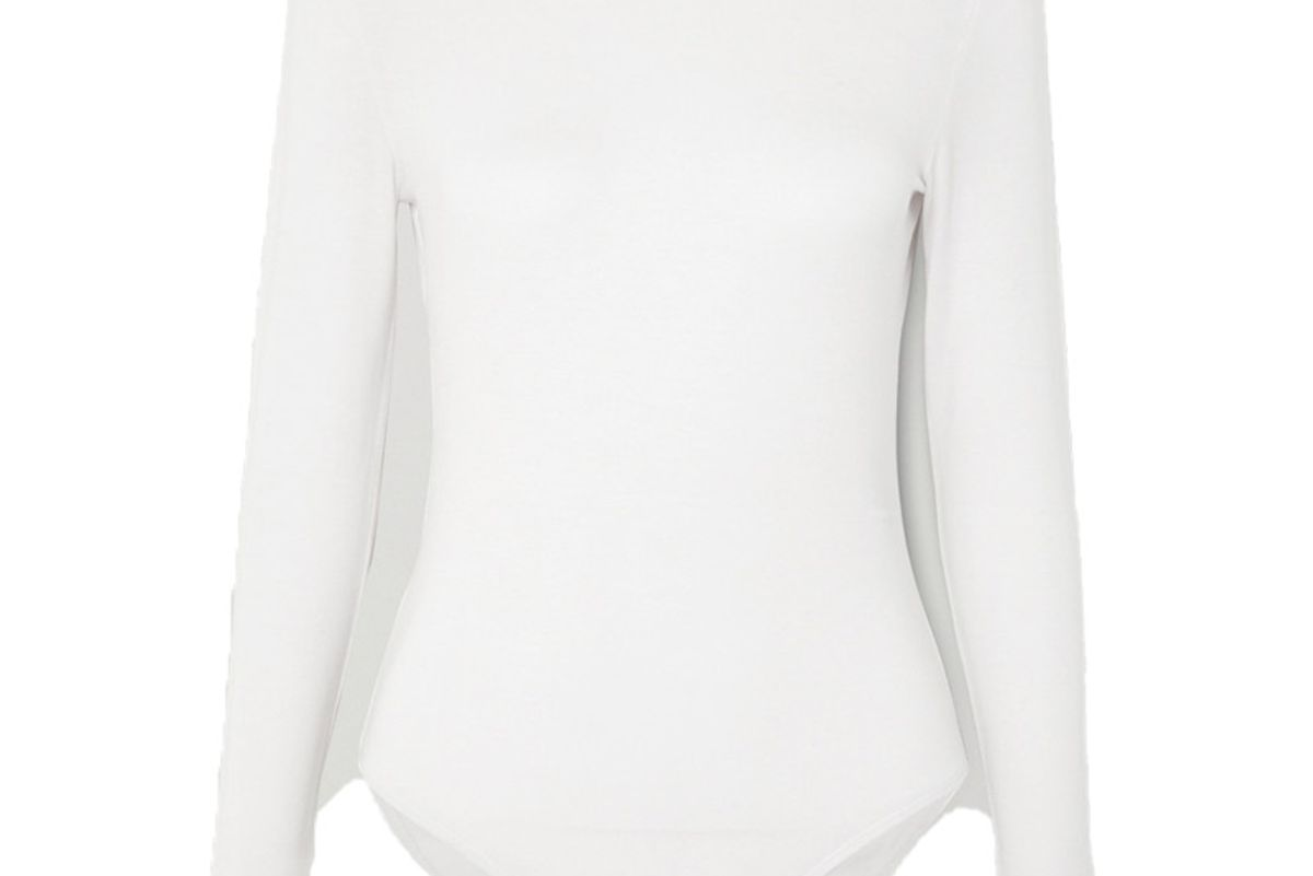 ninety percent net sustain stretch tencel bodysuit