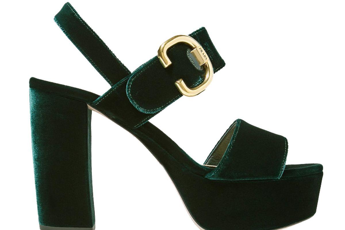 prada 105 velvet platforms sandals